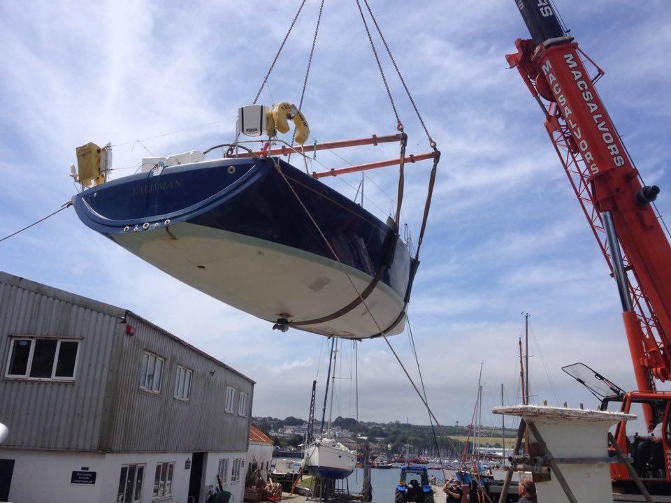 Rudder and keel removed