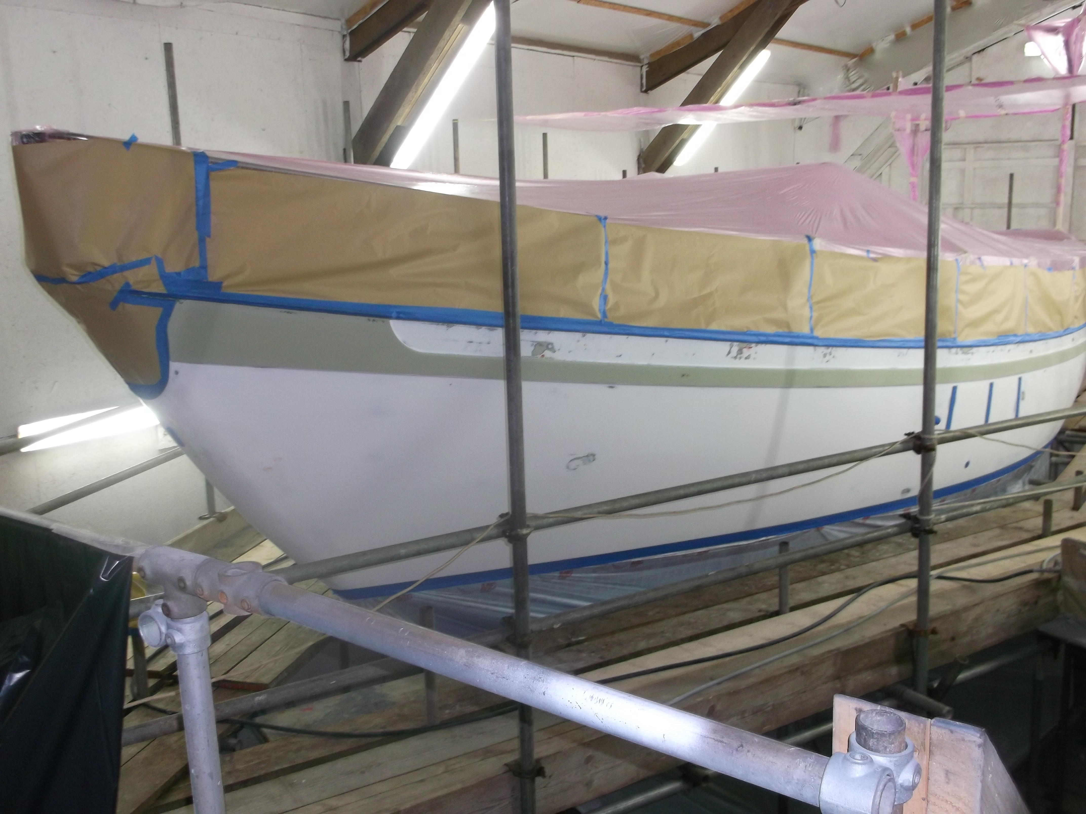Boat painting Cornwall