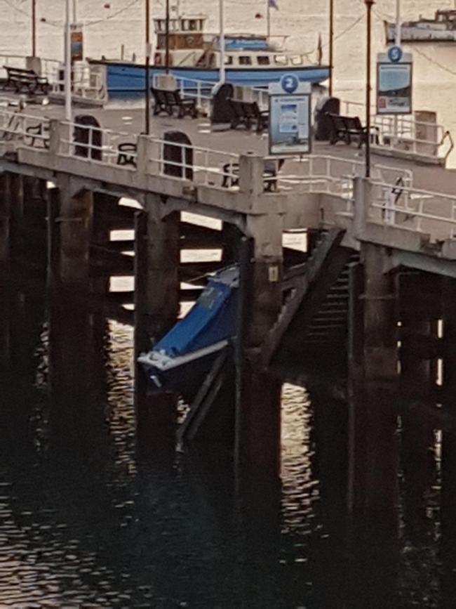 Boat damage Falmouth