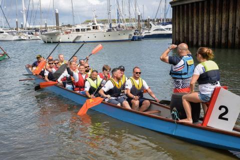 Falmouth Week's Dragon Boat Race