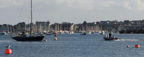 Looking after boats on moorings in Falmouth harbour