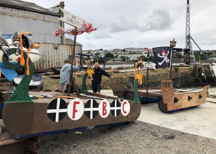 Shipwrighting rafts at Little Falmouth Yacht Yard