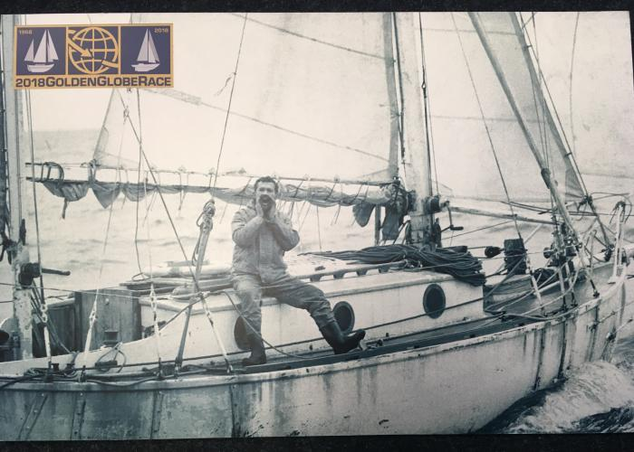 Sir Robin Knox-Johnston on Suhaili in the Golden Globe Race