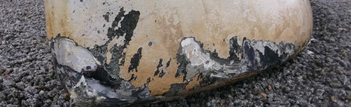 Keel damage needed repair