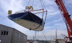Rudder and keel removed